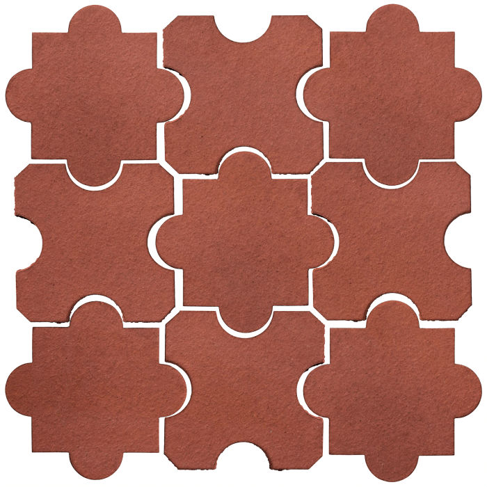 Studio Field Arabesque Pattern 8B Monrovia Red