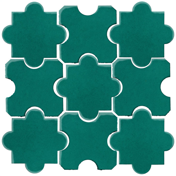 Studio Field Arabesque Pattern 8B Viridian 7721c