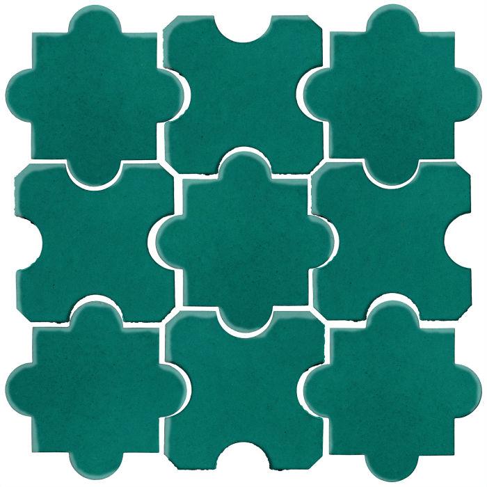 Studio Field Arabesque Pattern 8B Viridian 7721c
