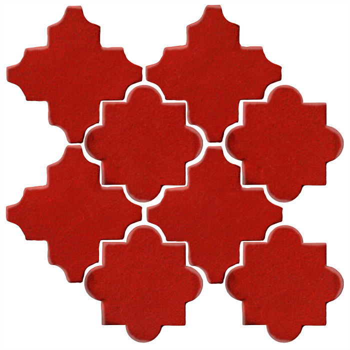 Studio Field Arabesque Pattern 8C Brick Red 7624c
