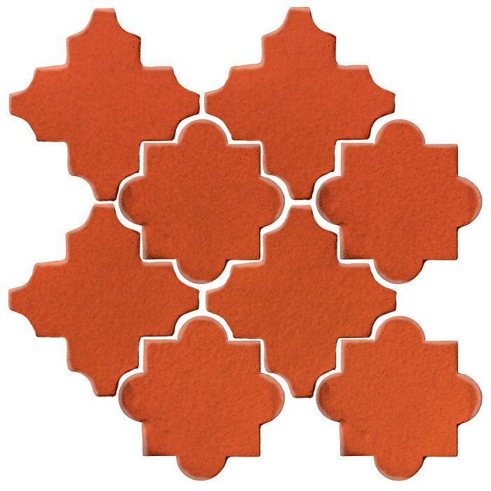 Studio Field Arabesque Pattern 8C Hazard Orange