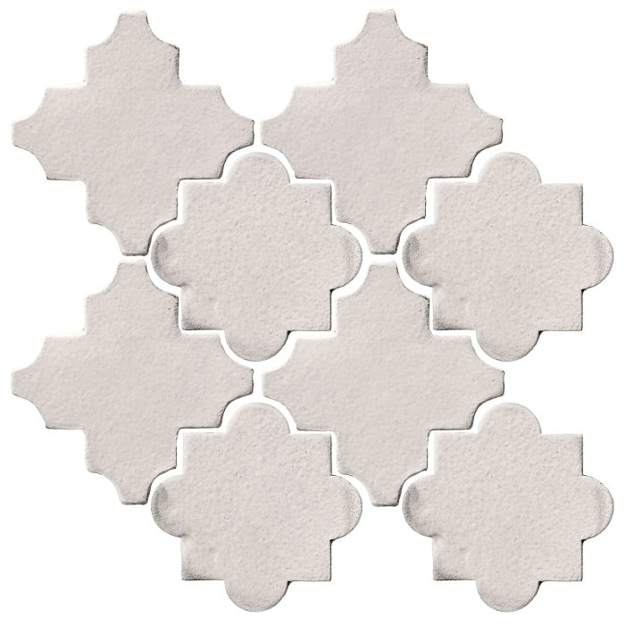 Studio Field Arabesque Pattern 8C Pure White