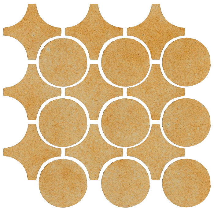 Studio Field Arabesque Pattern 9A Deli Mustard 7551u
