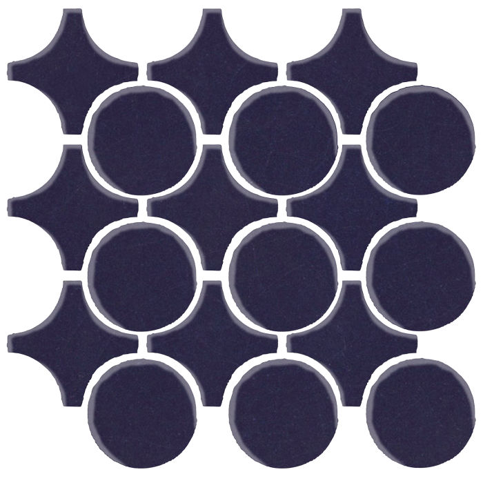 Studio Field Arabesque Pattern 9A Midnight Blue 2965c