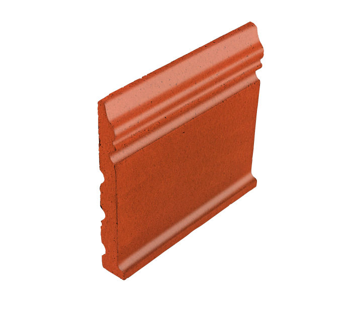 Studio Field Base Moulding with Cove Hazard Orange