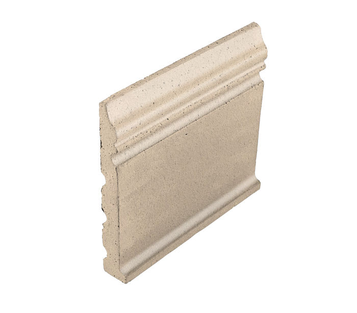 Studio Field Base Moulding with Cove White Bread 7506c