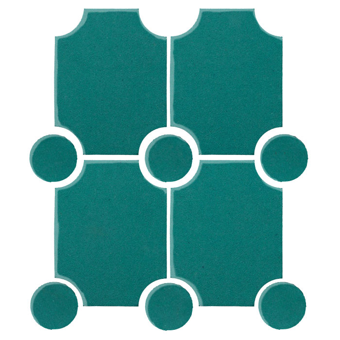 7x9 Studio Field Granada Set Real Teal 5483c