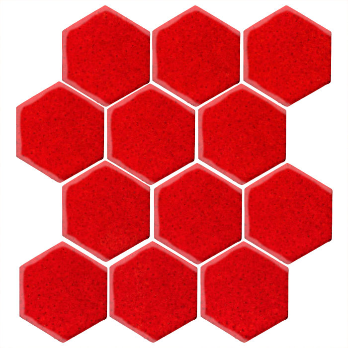4x4 Studio Field Hexagon Cadmium Orange 7620c