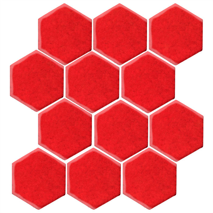 4x4 Studio Field Hexagon Watermelon 7619c
