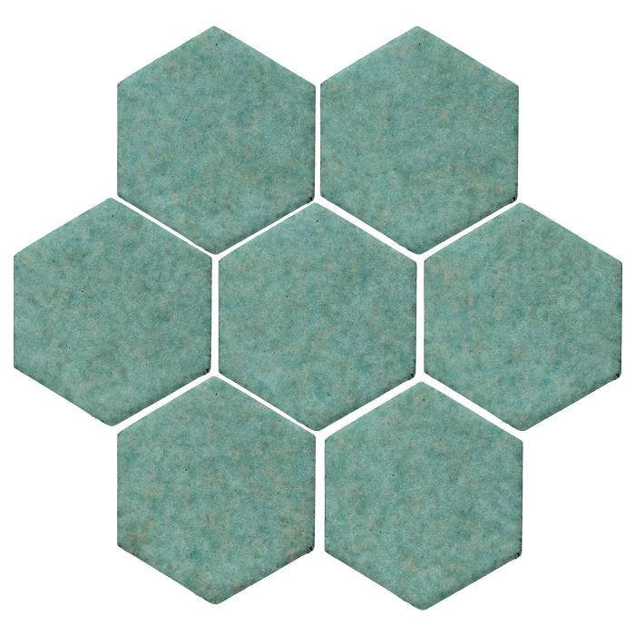 6x6 Studio Field Hexagon Aqua 5503u