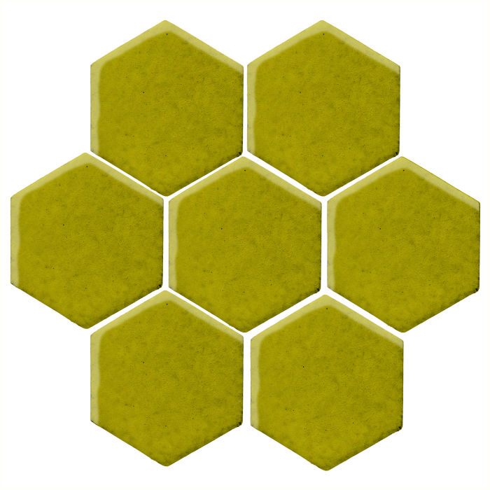 6x6 Studio Field Hexagon Guacamole 7495c