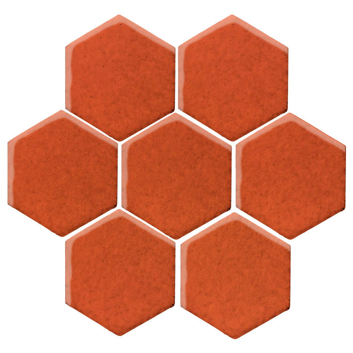 6x6 Studio Field Hexagon Hazard Orange