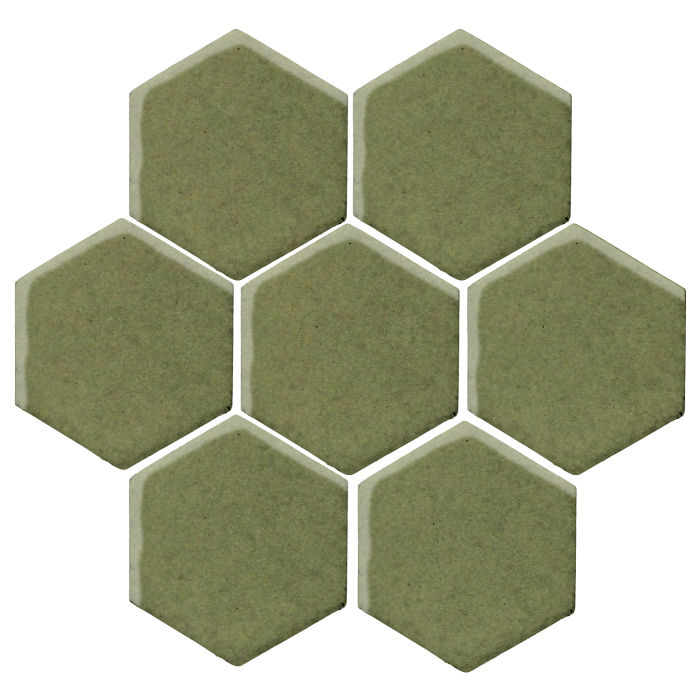 6x6 Studio Field Hexagon Kelp 5615c