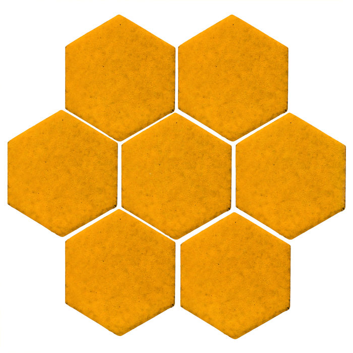 6x6 Studio Field Hexagon Mandarin 129u