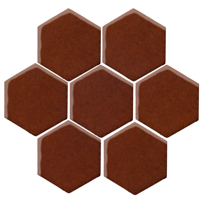 6x6 Studio Field Hexagon Mocha 7581c