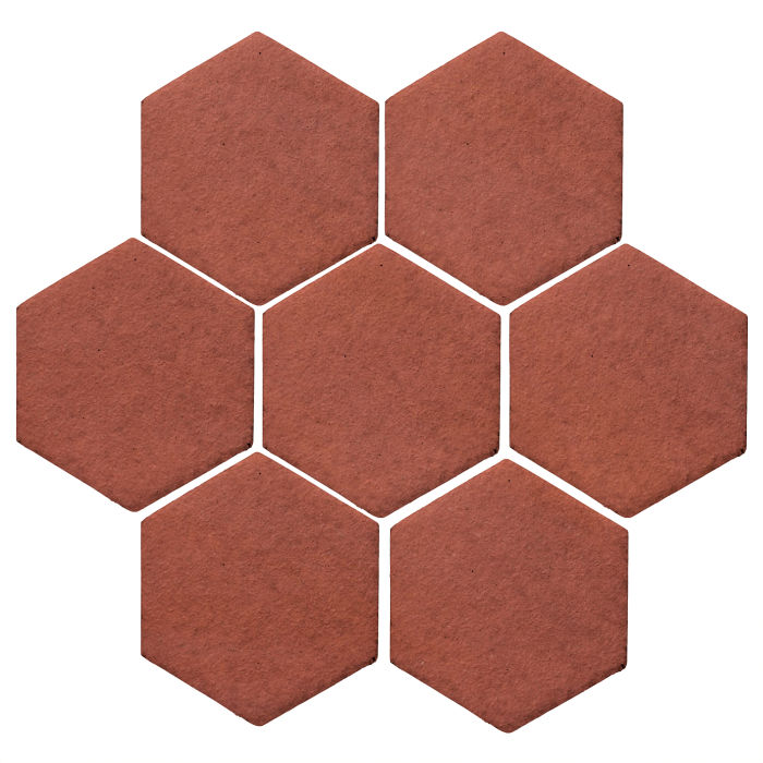 6x6 Studio Field Hexagon Monrovia Red