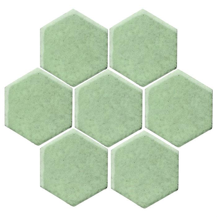 6x6 Studio Field Hexagon Peppermint