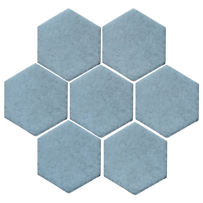 6x6 Studio Field Hexagon Turquoise