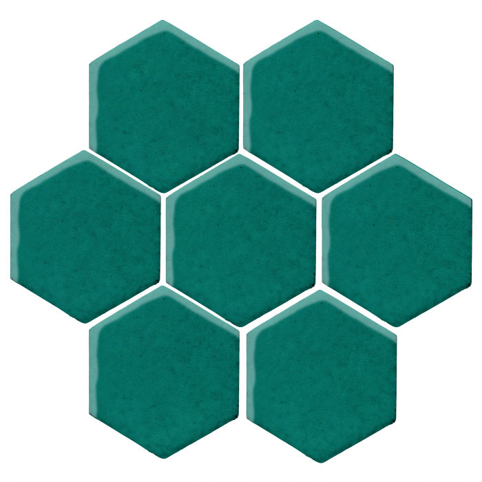 6x6 Studio Field Hexagon Viridian 7721c
