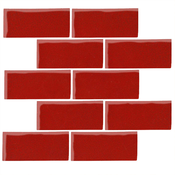 3x6 Studio Field Brick Red 7624c