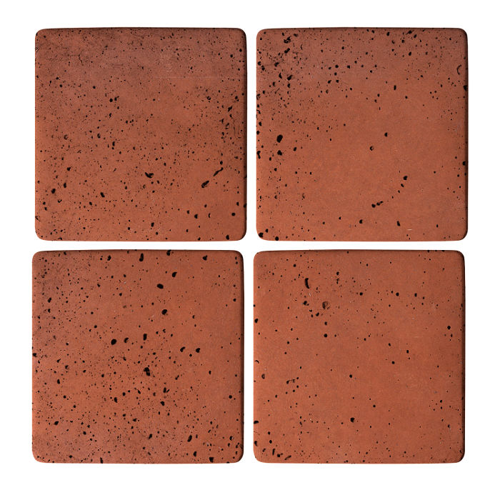 5x5 Super Mission Red Travertine