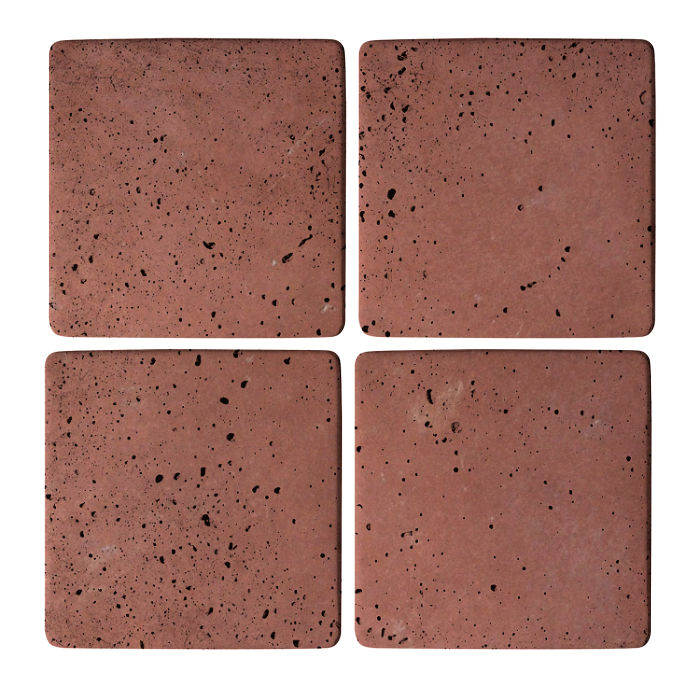 5x5 Super Spanish Inn Red Travertine