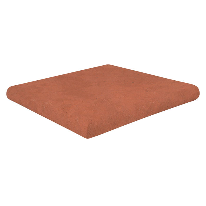 12x12 Super Artillo Stairtread Corner Mission Red Limestone