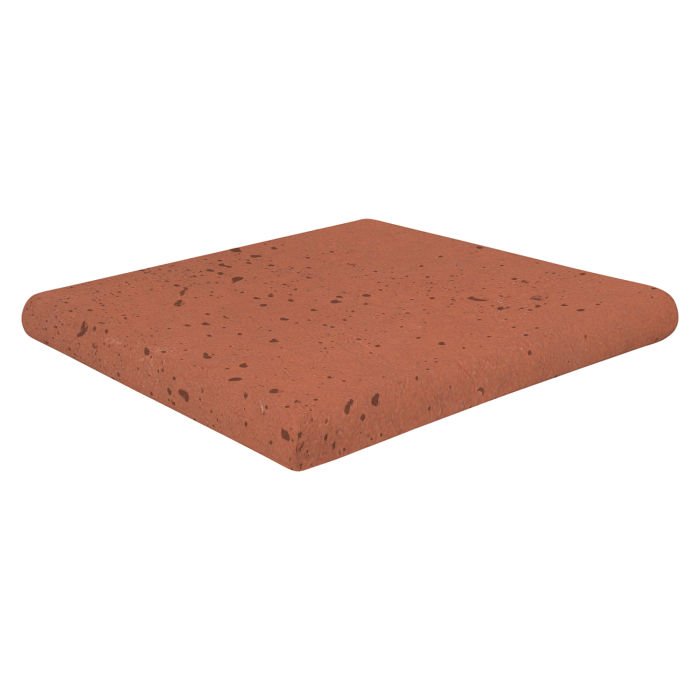 12x12 Super Artillo Stairtread Corner Mission Red Travertine