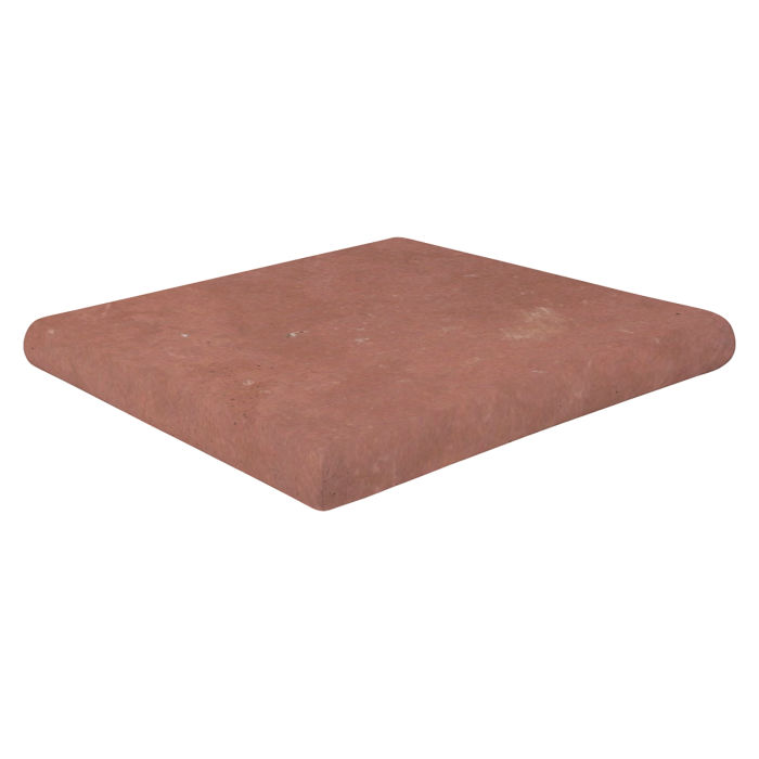 12x12 Super Artillo Stairtread Corner Spanish Inn Red Limestone