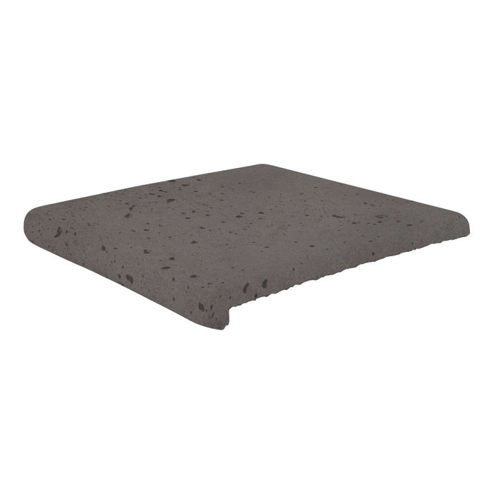 12x12 Super Stairtread Charcoal Travertine