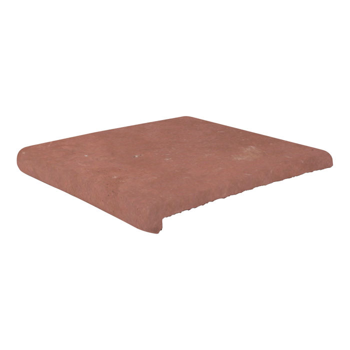 12x12 Super Stairtread Spanish Inn Red Limestone