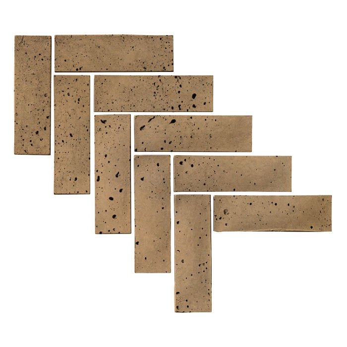 2x8 Artillo Brick Caqui Travertine