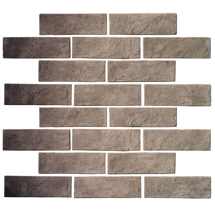 2x8 Standard Antik Gray Limestone