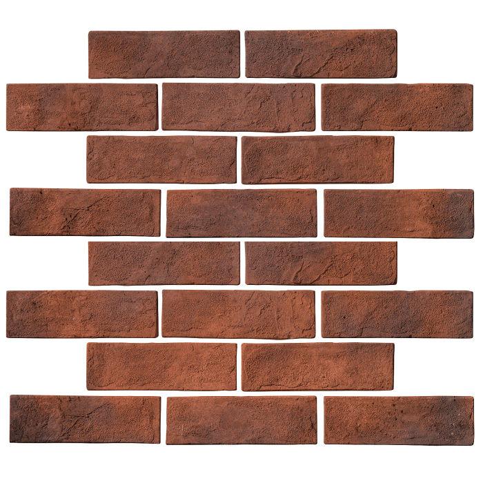 2x8 Standard Red Flash Limestone